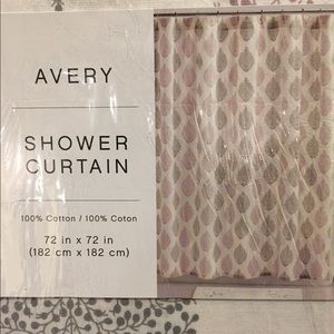 Avery cotton shower curtain NWT